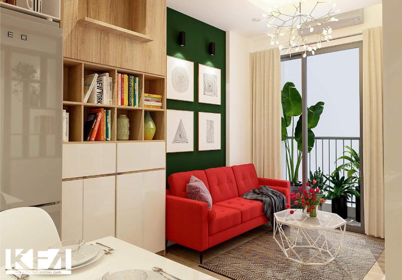 Sofa đỏ ấn tượng cho mệnh hỏa