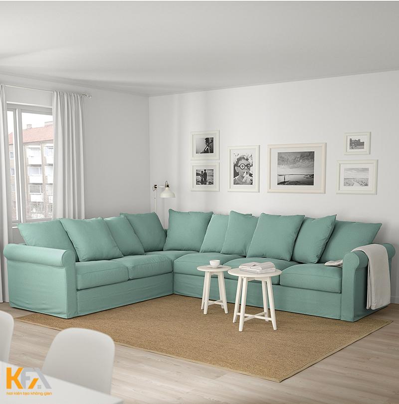 Kích thước sofa chữ L cho phòng khách hiện đại