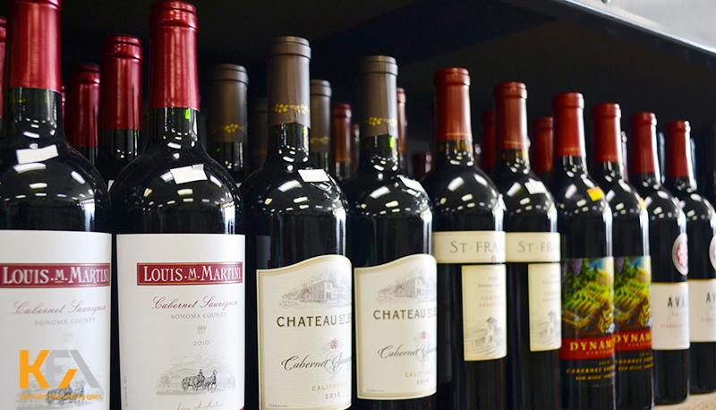 Kích thước của chai rượu vang như thế nào?