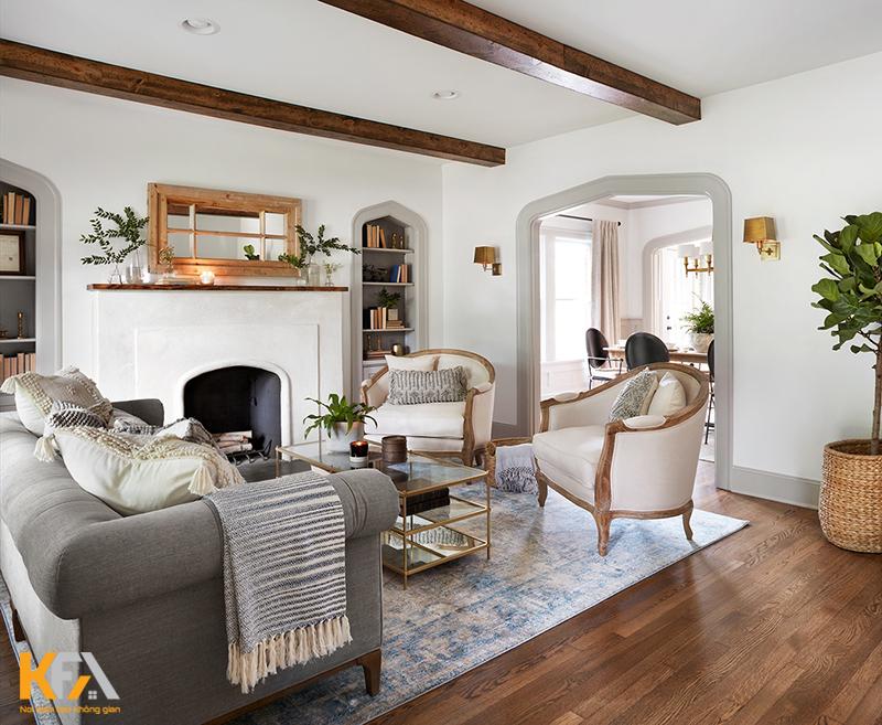 Mẫu kệ trang trí phòng khách nhỏ cho chung cư hiện đại