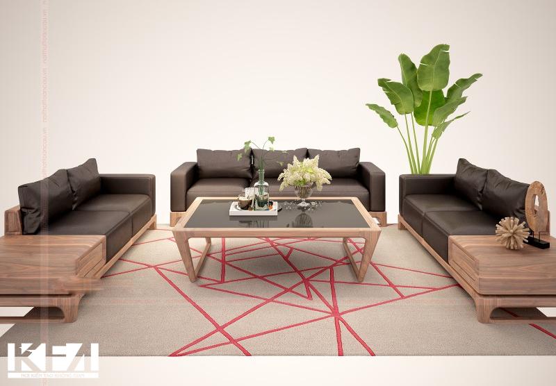 Tổng hợp 20 mẫu sofa gỗ phòng khách đẹp