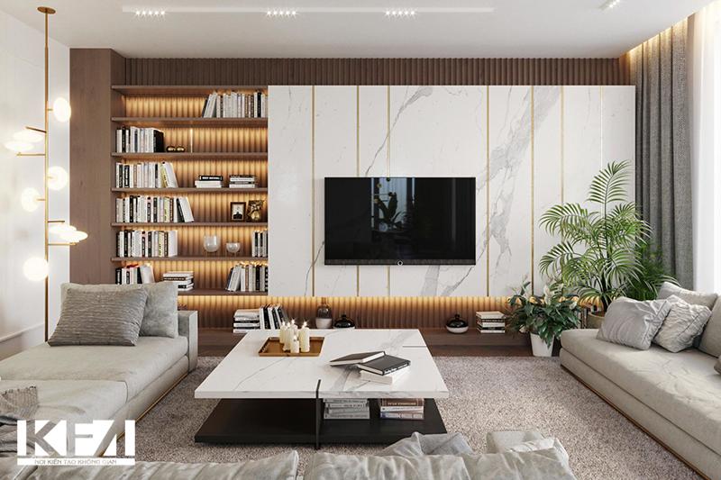 Tủ phòng khách đẹp - Báo giá tủ phòng khách năm 2020