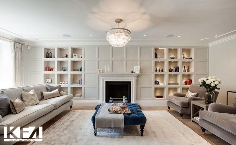 Chọn mẫu tủ phòng khách phù hợp với diện tích phòng khách.