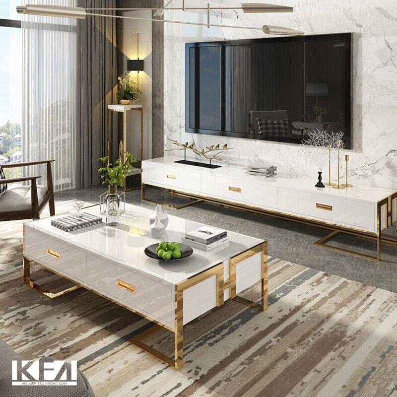 Mẫu tủ phòng khách mang phong cách hiện đại