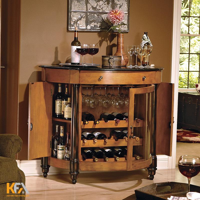 20+ mẫu tủ rượu cho phòng khách hiện đại