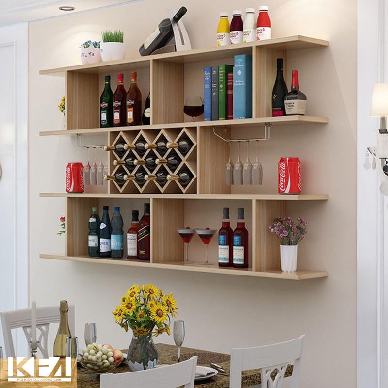 Mẫu tủ rượu treo tường