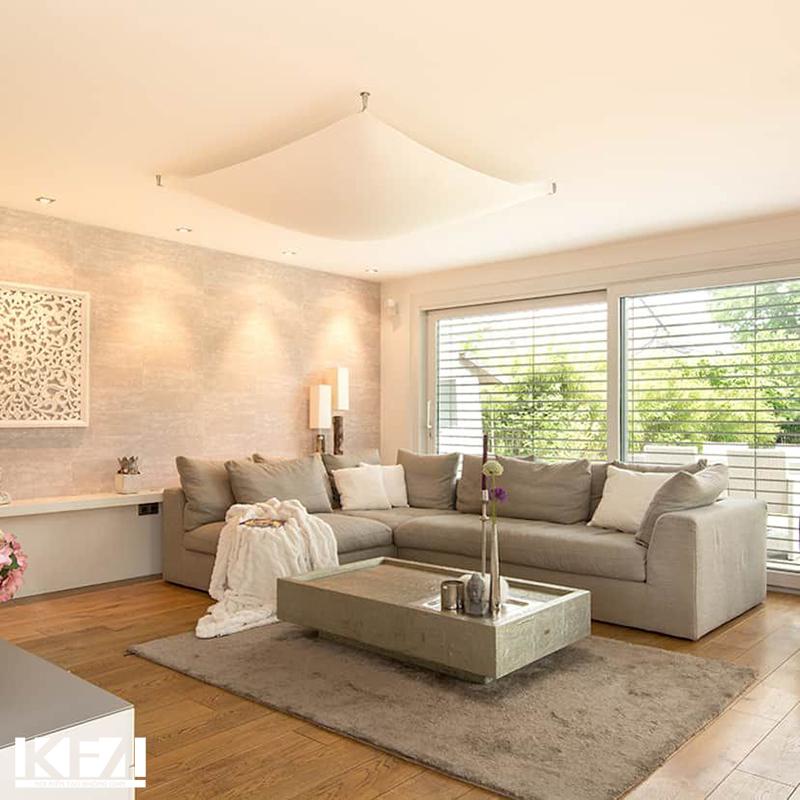 Mẫu nội thất đẹp cho phòng khách chung cư hiện đại 100m2.