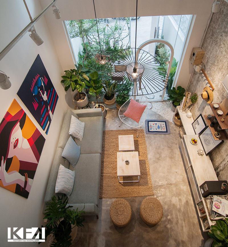 Nội thất đẹp phòng khách chung cư hiện đại 60m2.