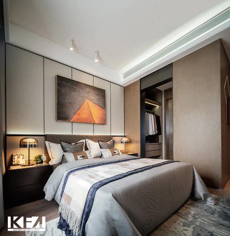Mẫu nội thất đẹp cho phòng ngủ chung cư hiện đại 100m2.