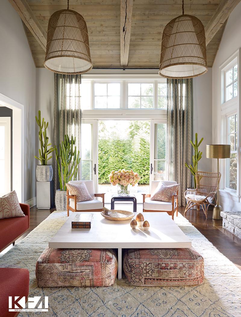 Phong cách thiết kế mẫu phòng khách chung cư đẹp xu hướng châu Âu