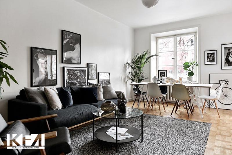 Phòng khách chung cư 30- 40m2 trở lên