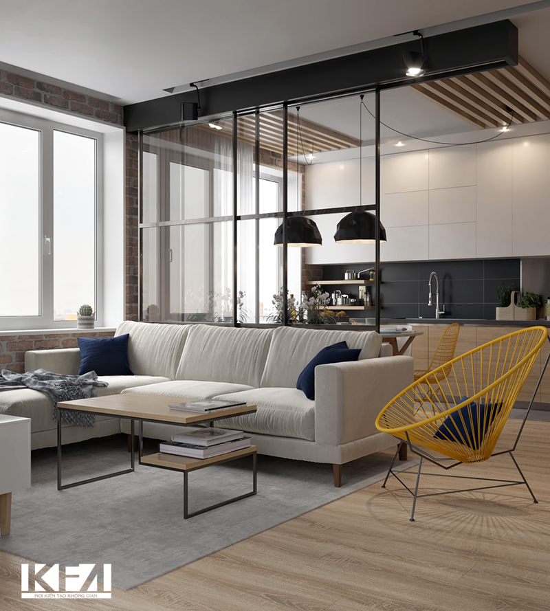 Phòng khách chung cư 20m2