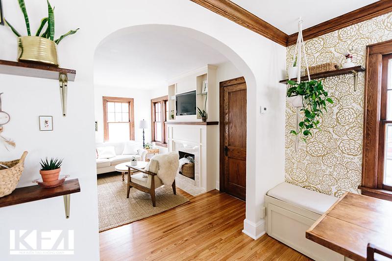 Thiết kế không gian mở cho phòng khách