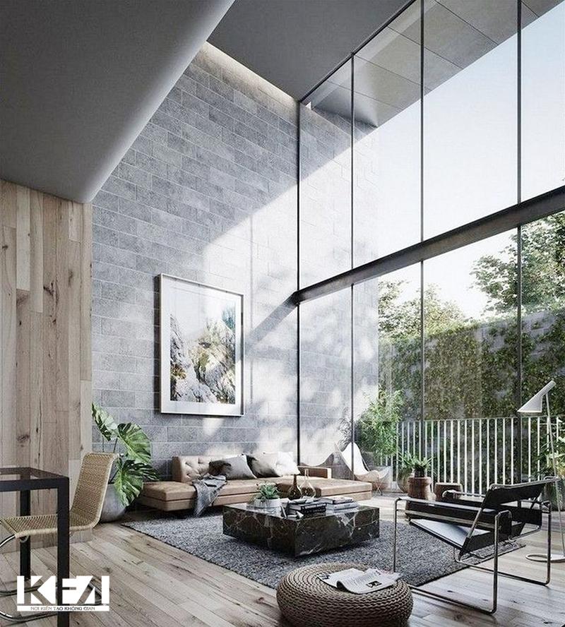 Phòng khách hiện đại luôn chiếm ưu thế trong phong cách thiết kế nội thất chung cư.