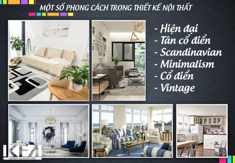 Một số phong cách thiết kế trong nội thất