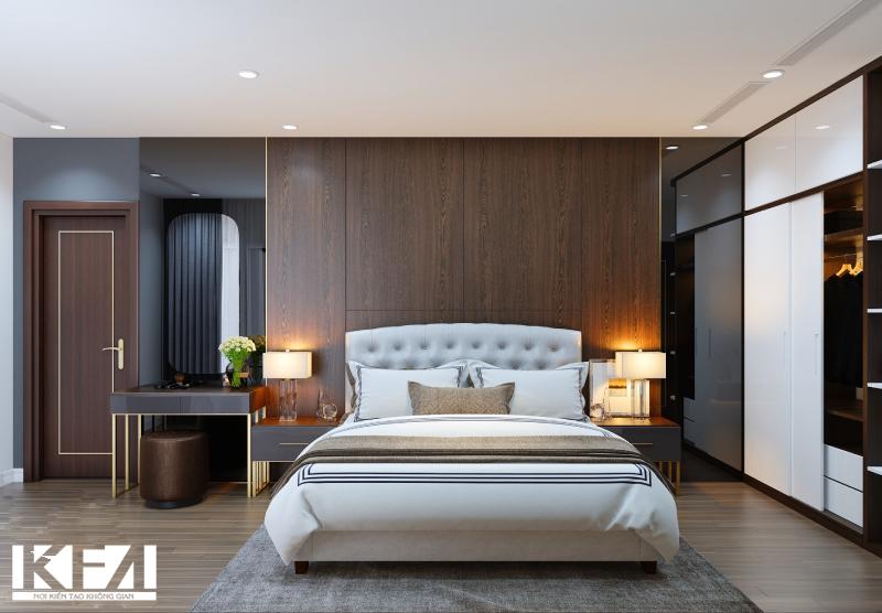 Giường ngủ bằng gỗ ấm cúng, sang trọng