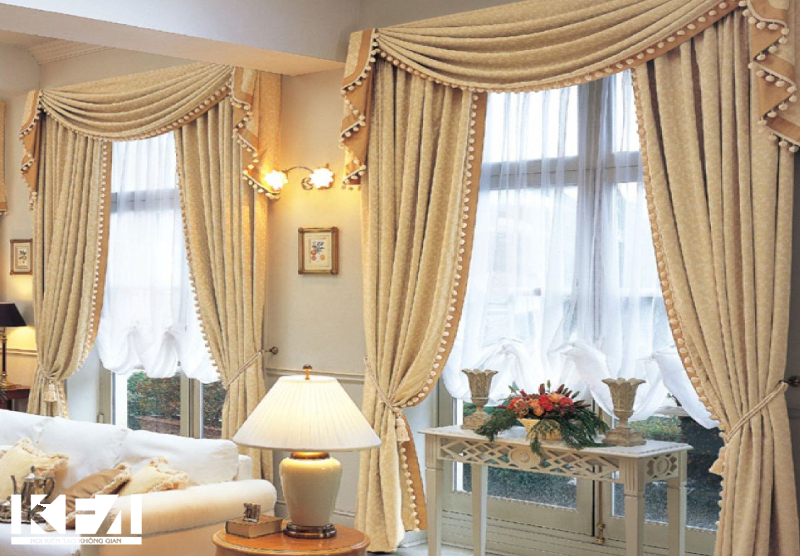 Trang trí phòng khách bằng những chiếc rèm