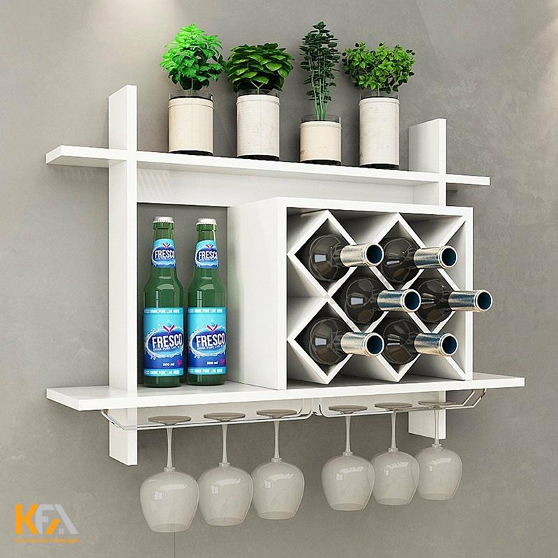 Mẫu tủ rượu âm tường bằng nhựa đẹp