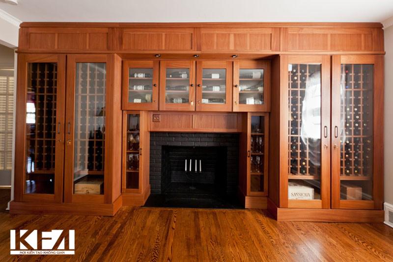 Những mẫu tủ rượu gỗ tự nhiên sang trọng