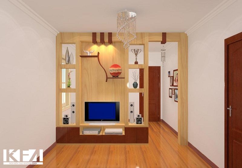 Tủ làm bằng gỗ tự nhiên để tăng tính thẩm mỹ