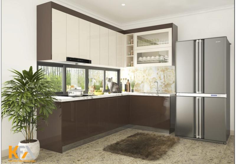 Cửa sổ ngay bệ bếp có tác dụng loại bỏ mùi hôi và ẩm ướt