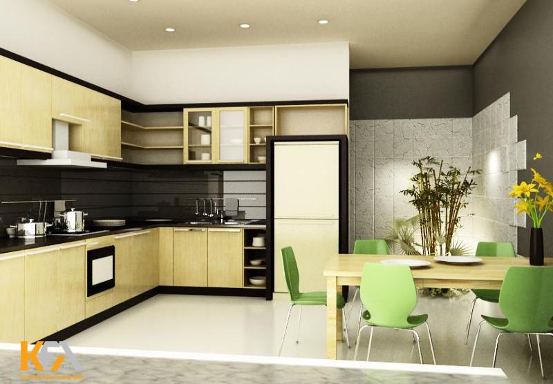 Không gian phòng bếp đẹp sẽ giúp các mẹ có thêm nguồn cảm hứng để chăm chút từng món ăn ngon