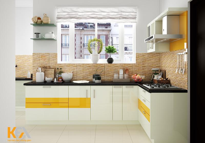 Tone màu sáng kết hợp sắc vàng mang đến không gian trẻ trung