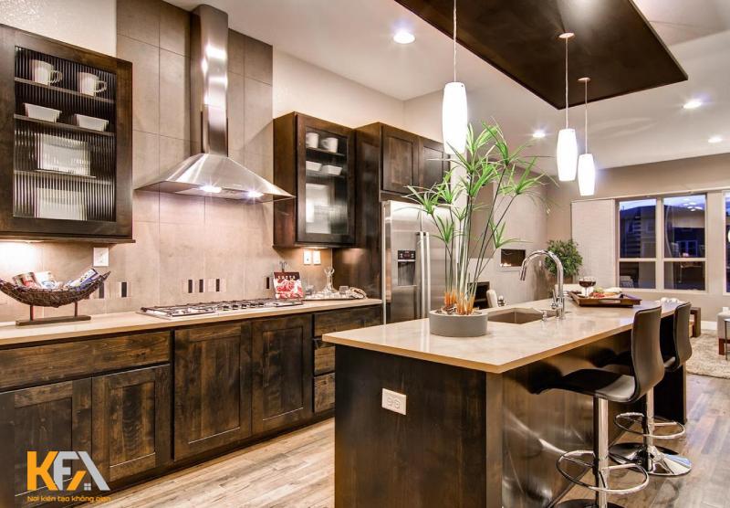 Tủ bếp hình chữ I có thể mang đến một căn bếp hiện đại, đơn giản và ngăn nắp.