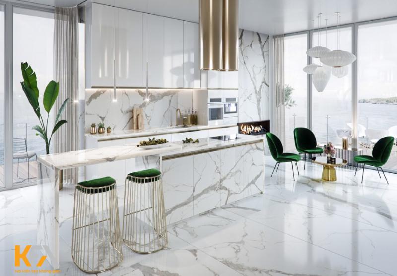 Gam màu sáng cho căn bếp càng thêm thanh lịch