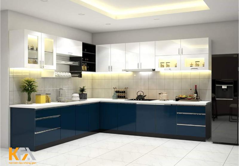 Đối với một căn bếp có diện tích vừa phải thì đây sẽ là một lựa chọn tốt