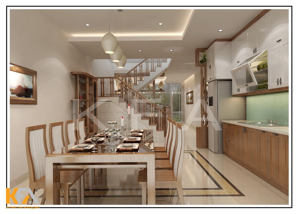 Thiết kế nội thất nhà cô Giang lô 80m2 Hà Đông