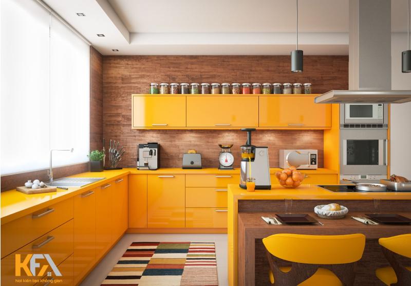 Các màu sắc đem lại tài lộc và may mắn cho gia chủ đó chính là cam, đỏ và tím