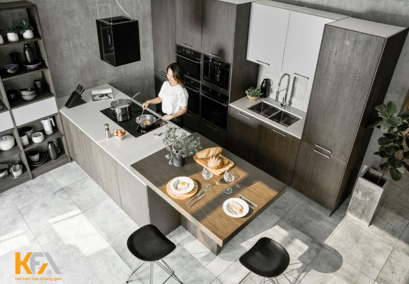 Kích thước đảo bếp tiêu chuẩn cho người Châu Á