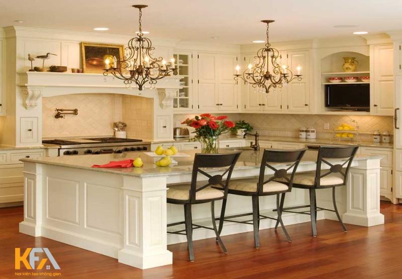 Xu hướng chung của đảo bếp là nâng cao tính sang trọng, hiện đại, giá trị thẩm mỹ