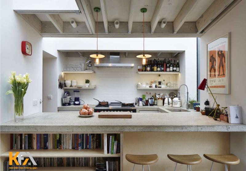 Phòng bếp đơn giản mang đến không gian sống tiện nghi
