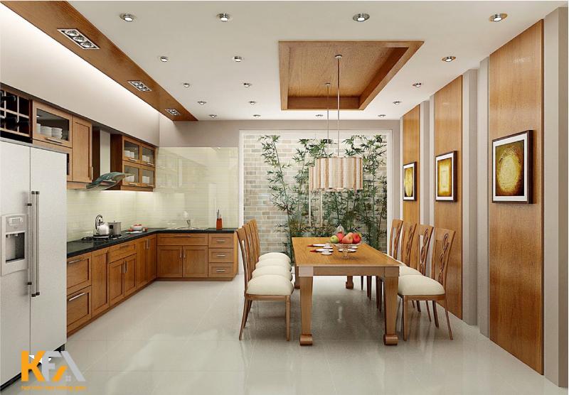 Nhà bếp đơn giản theo phong cách hiện đại