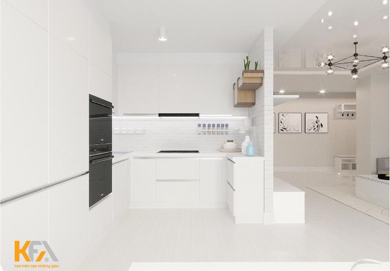 Mẫu phòng bếp tối giản, trẻ trung