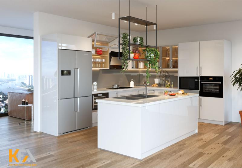 Thiết kế thêm đảo bếp cho không gian đầy mới lạ