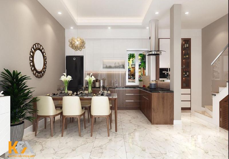 Mẫu nhà bếp nhỏ đẹp cho nhà chung cư hiện đại