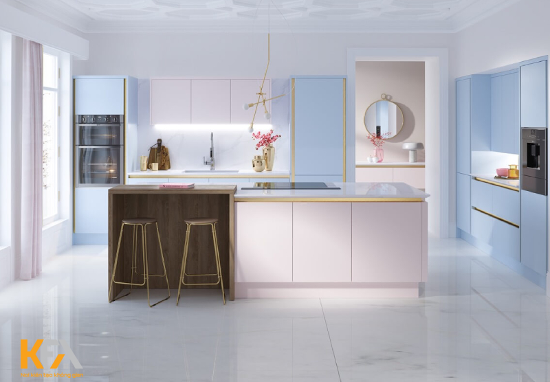 Thiết kế một phòng bếp nhỏ đẹp, ăn gian được nhiều diện tích trống cũng góp phần nhỏ giúp mẹ có thêm động lực nấu món ăn ngon