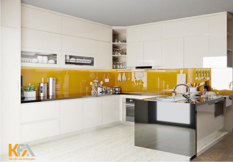 Ý tưởng sử dụng tủ bếp treo tường áp trần hiện được các chị em ưa chuộng