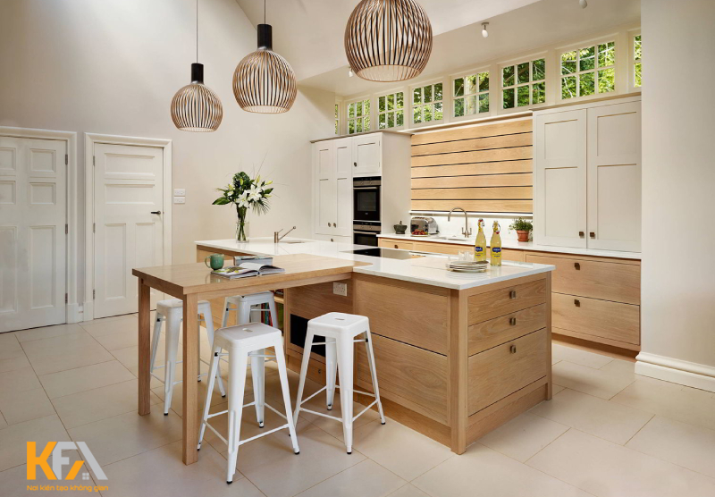 Các mẫu đảo bếp thường hướng đến phong cách trẻ trung, hiện đạitạo sự tinh tế, trang nhã cho không gian.