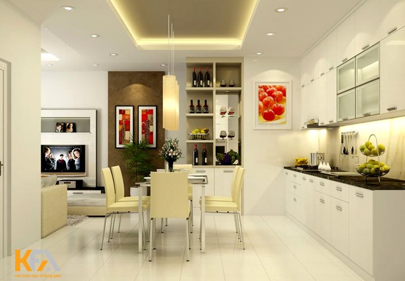 Sử dụng các màu đậm để tạo thêm nét thú vị cho căn bếp hiện đại của bạn