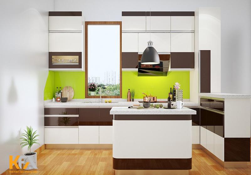Thiết kế tủ bếp đẹp phải sử dụng hợp lý
