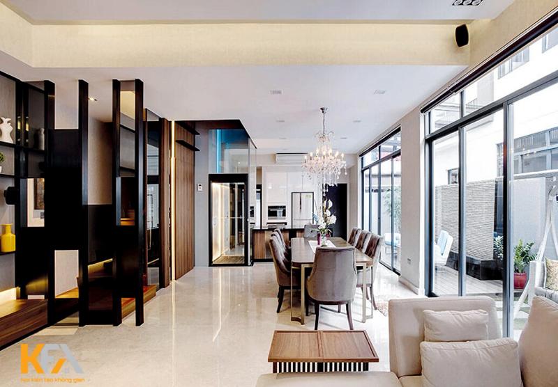 Phong cách hiện đại kết hợp nhiều phong cách thiết kế khác nhau