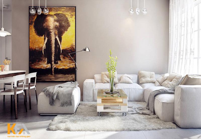 Hệ thống nội thất theo phong cách hiện đại này nên đơn giản, không có đồ trang trí thừa, đường cong hoặc trang trí tinh tế.