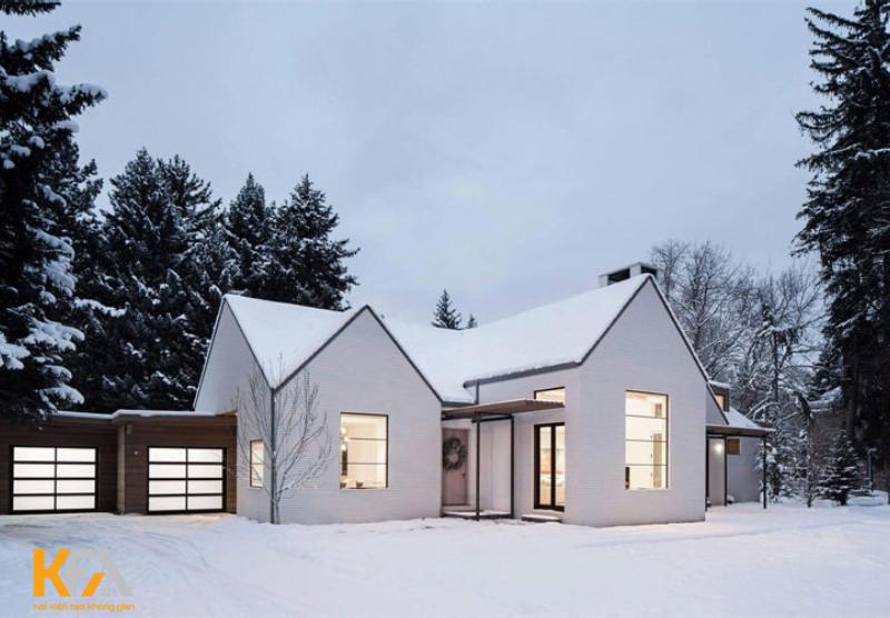 Mùa đông tại Scandinavie thường rất lạnh vì bị tuyết trắng bao
