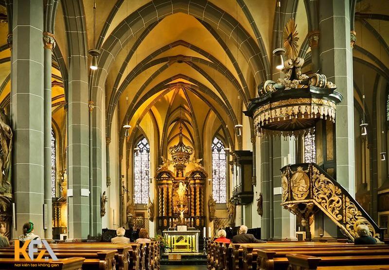Nhà thờ này nằm trong quần thể các nhà thờ có kiến trúc Baroque