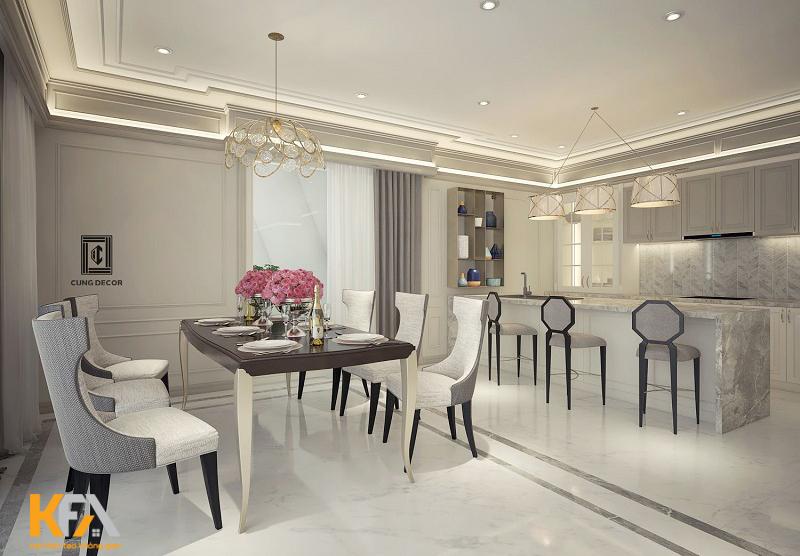 Sử dụng nội thất đơn giản nhưng hiện đại và vẫn giữ được đầy đủ công năng.