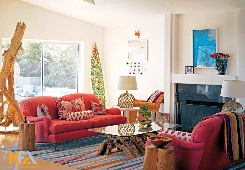 Phòng khách có vẻ là một không gian mở ra nhiều điều thú vị khi thiết kế